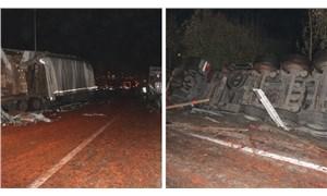 Yola dökülen salçalar nedeniyle kayan 18 araç çarpıştı: 1 kişi öldü, 10 kişi yaralandı