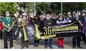 Sağlık çalışanları Dr. Rümeysa Şen'i andı: Bir arkadaşımızı daha kaybetmeye tahammülümüz yok!
