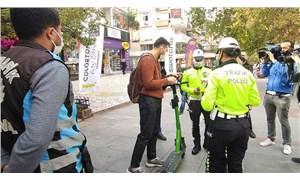 İstanbul'da elektrikli scooter denetimi: 86 kişiye 31 bin lira ceza
