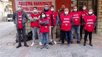 İzmir'de işçiler eylemde