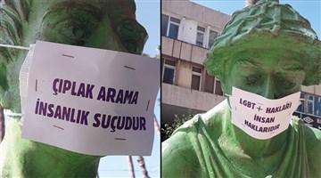 """""""İsyanımız heykellerde"""""""