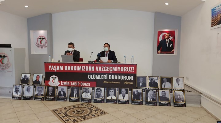 İzmir'de hekimler, 'sözümüz tükendi, çığlığımızla buradayız' dedi