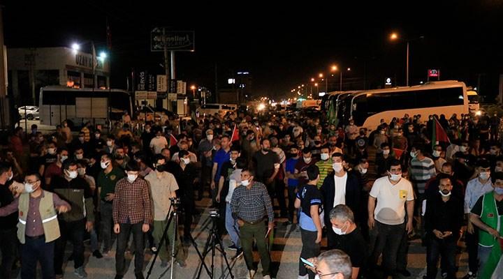 Kısıtlamaya rağmen Türkiye'nin birçok ilinde İsrail protestosu düzenlendi!