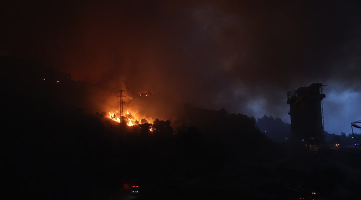 Milas'ta alevler termik santrali sardı: Bölge tahliye edildi