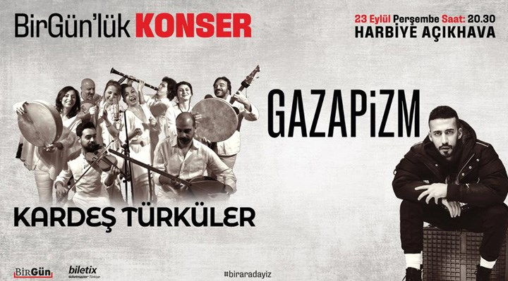 BirGün'lük Konser, 23 Eylül'de Harbiye'de!