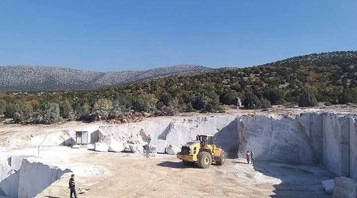 Mermer ocağı tarımı ve hayvancılığı yok edecek