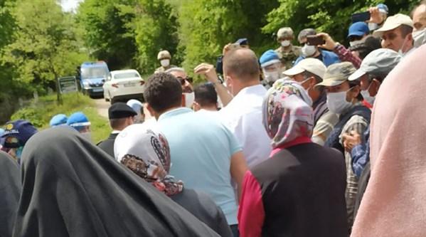 Maden çalışmasını durduran vekilin eşi gözaltına alındı!